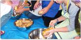 芋餅作り体験