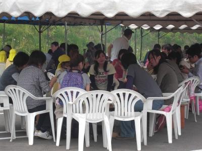 森のこだま館 葛巻保育園 遠足 ジンギスカン