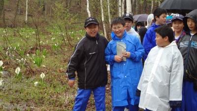 森のこだま館 八戸市江陽中学校 やまぶどう染め体験