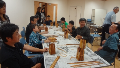 森のこだま館 浮島小学校 木の皮細工体験