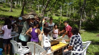 森のこだま館 岩手町黒石地区 棒パン作り体験